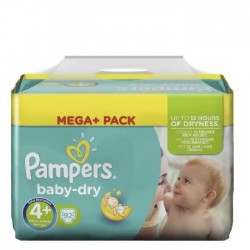 Pampers baby dry taille 4+ 92 couches